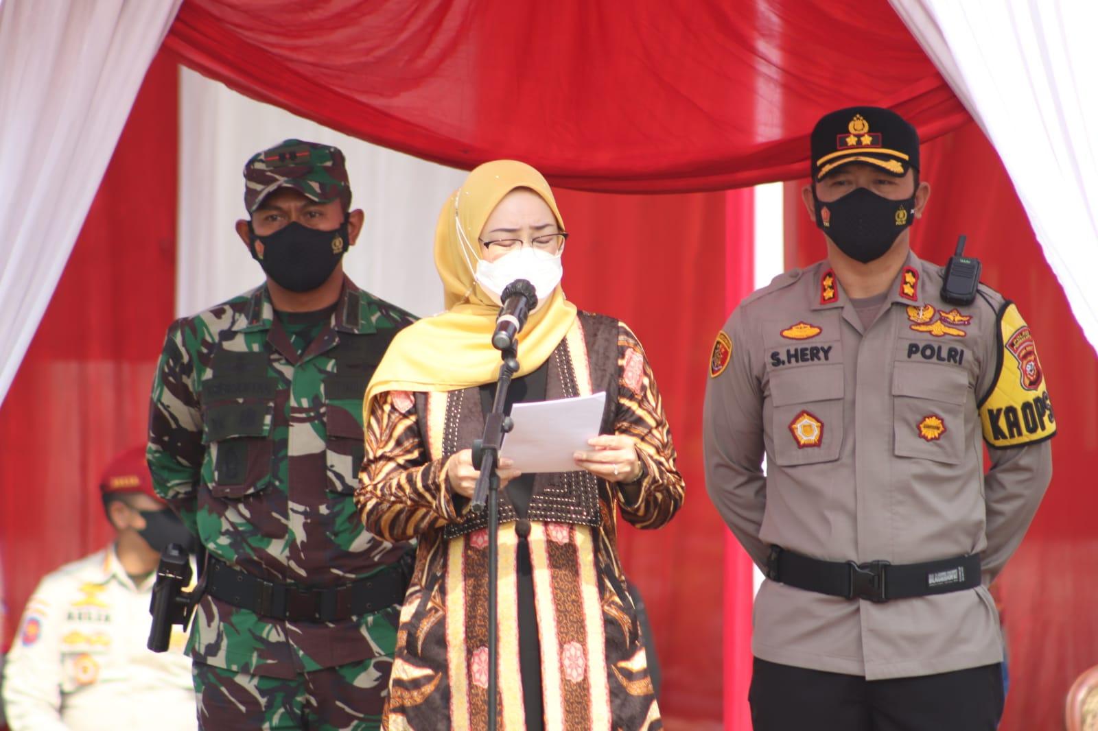Bupati Purwakarta Pimpin Gelar Pasukan Pengamanan Pilkades
