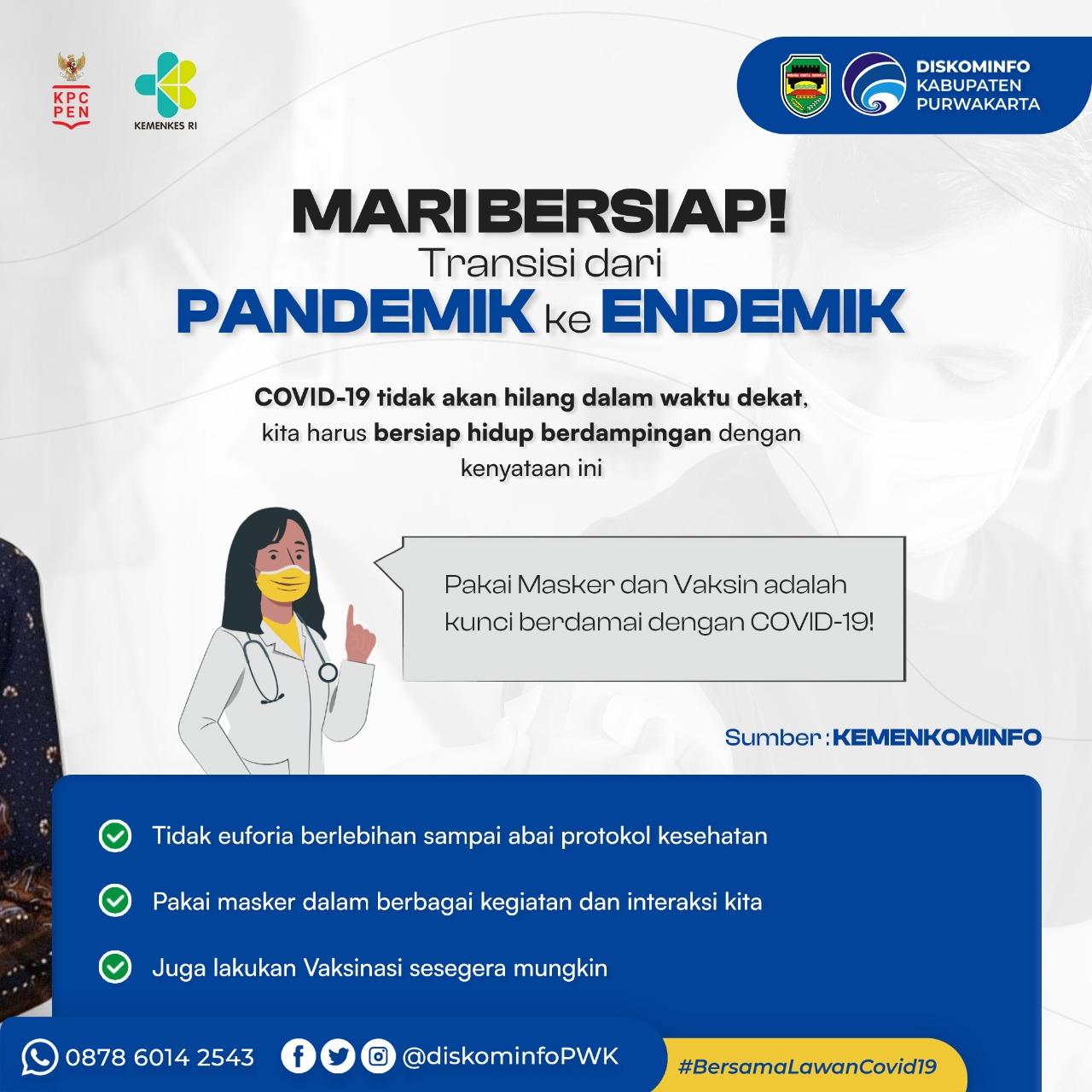 Mari Bersiap! Transisi dari Pandemik ke Endemik