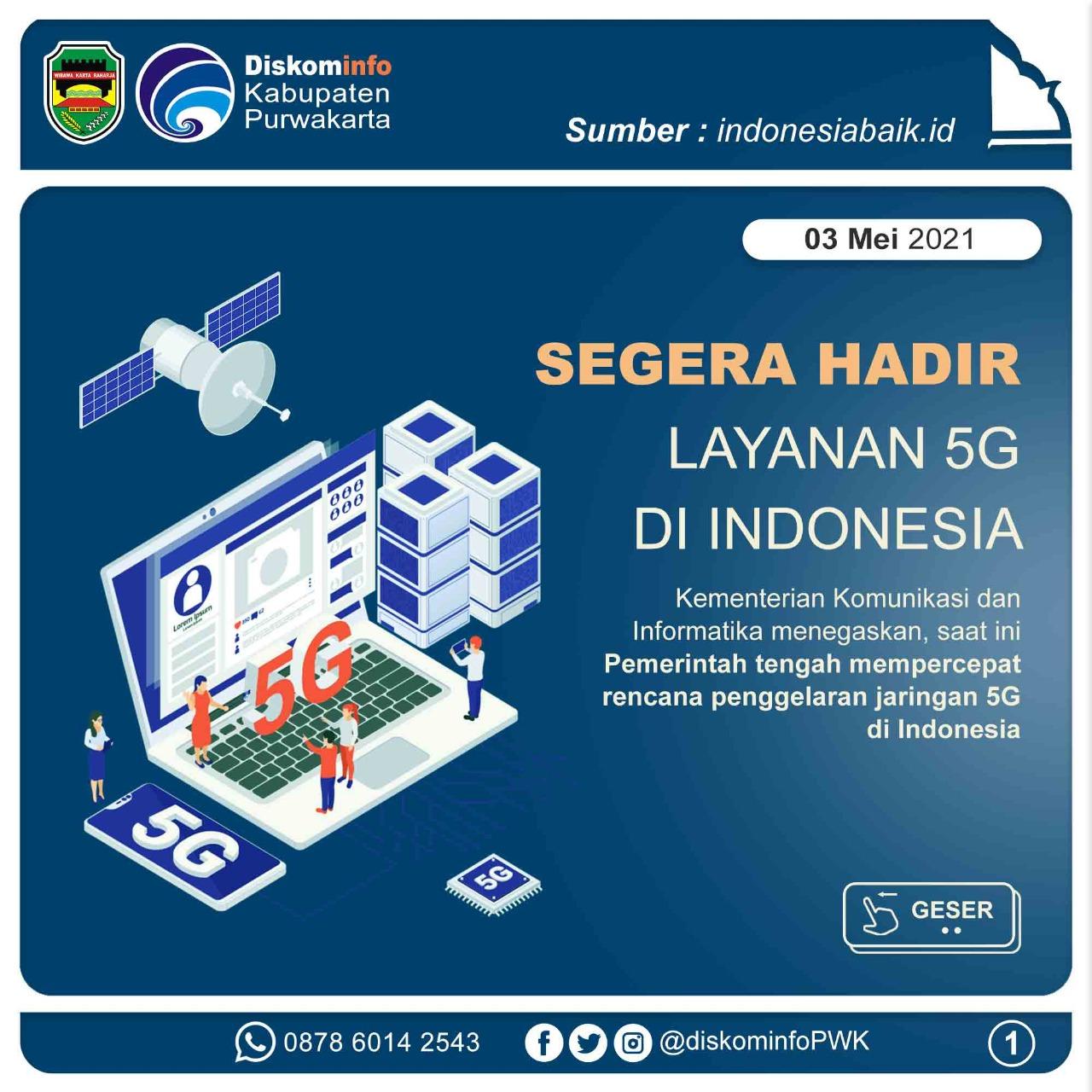 Segera Hadir Layanan 5G di Indonesia